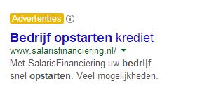 Adwords Advertentie