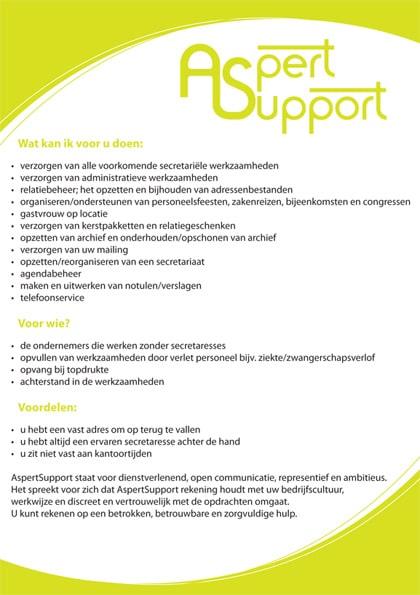 Flyer-Aspert-Support