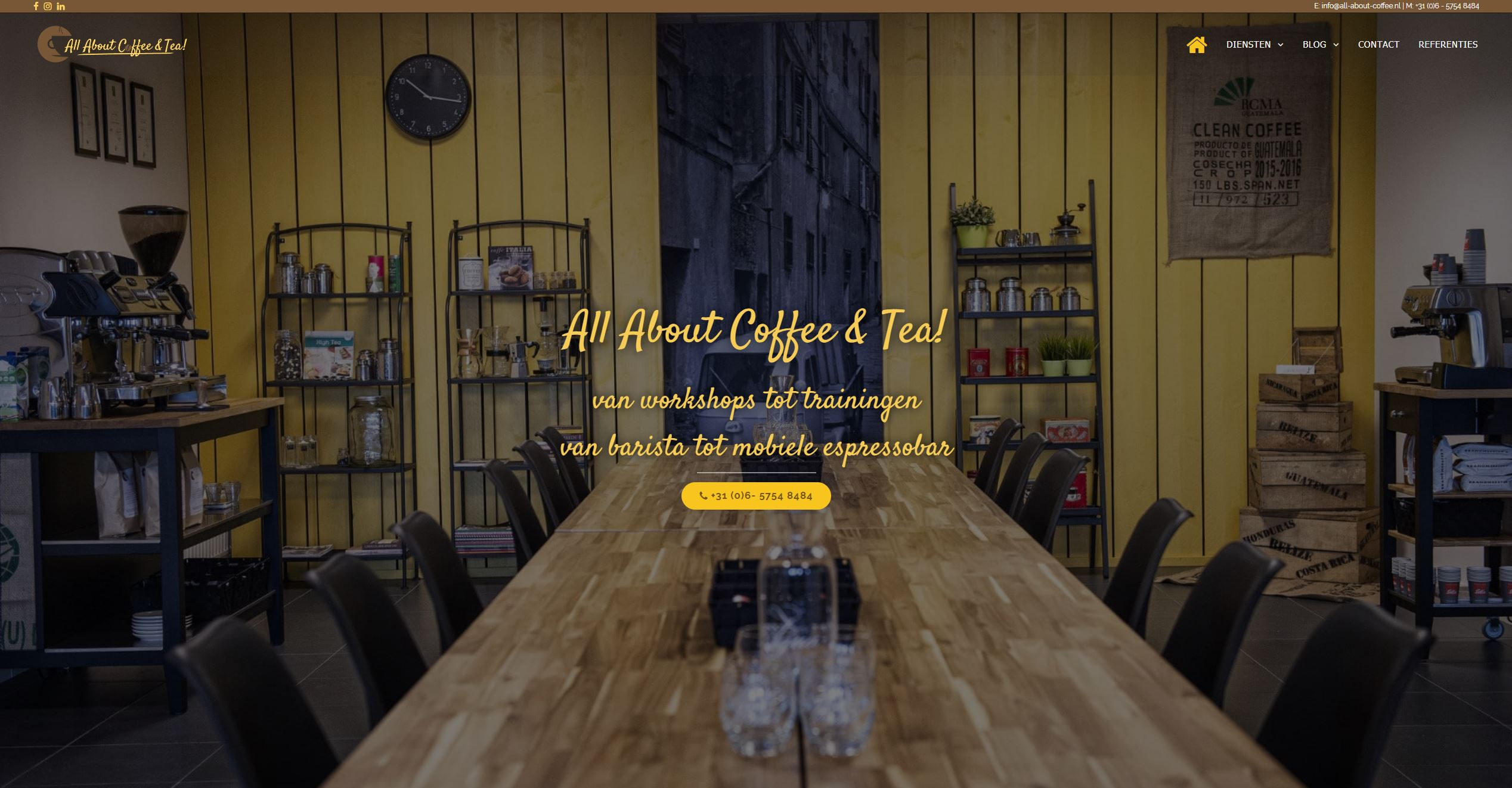 ALL ABOUT COFFEE AND TEA WEBSITE