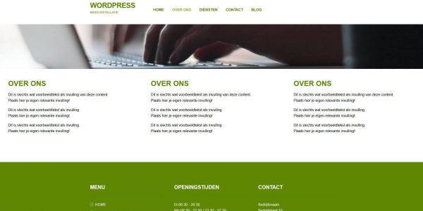 Wordpress-basis-installatie-over-ons
